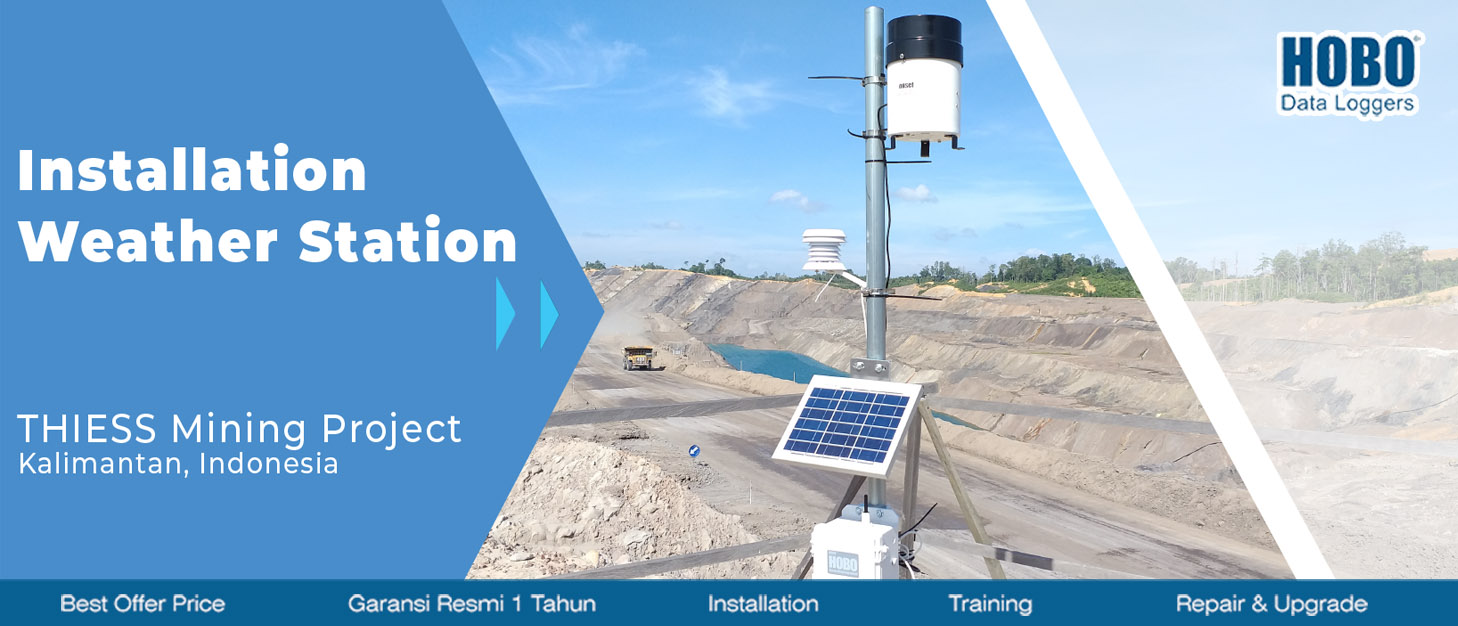 Banner instalasi weather station di kalimantan