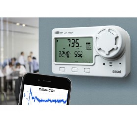 MX1102 Bluetooth Low Energy Carbon Dioxide - HOBO - Temp - RH Data Logger